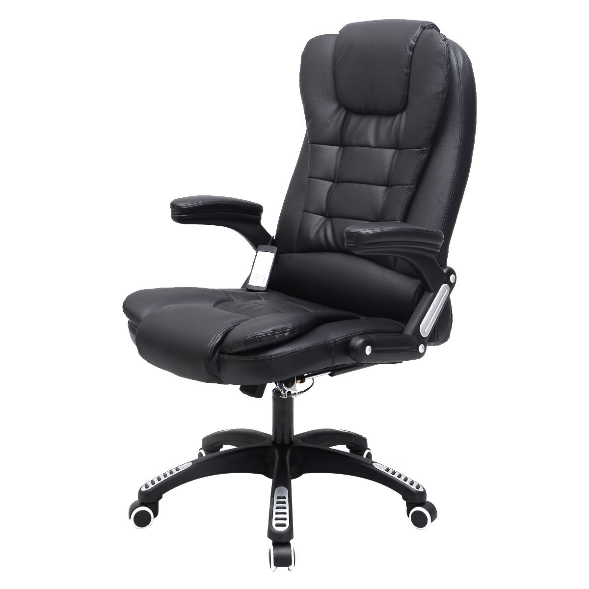 Costway Executive Ergonomic Computer Desk Massage Chair Vibrating Home Office