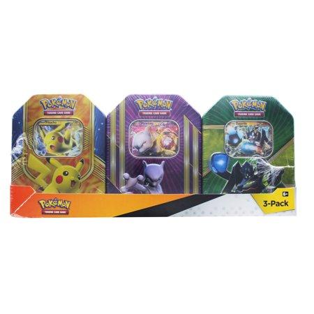 Mewtwo Card (Pokemon Trading Card Tin 3-Pack - Pikachu/ Mewtwo/)