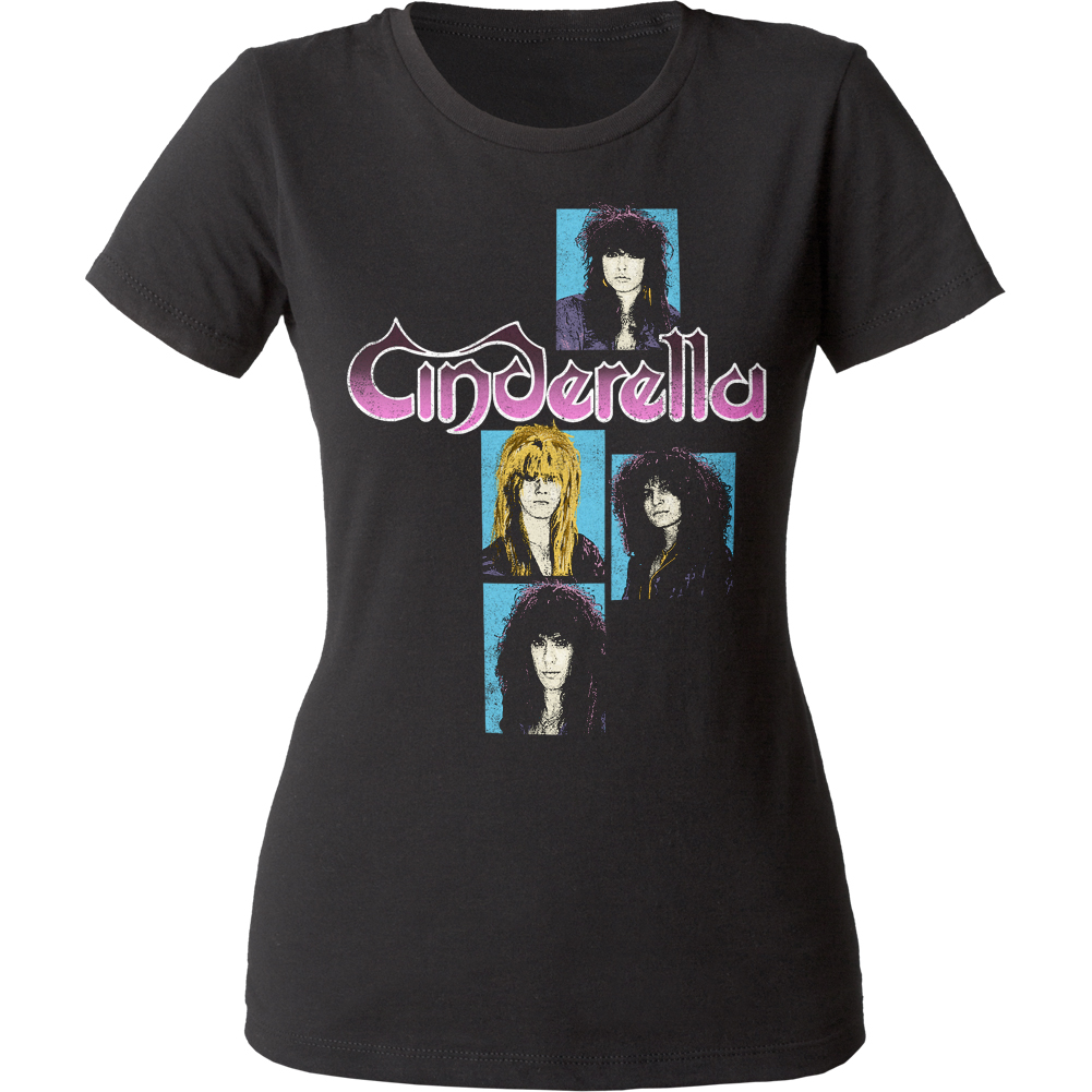 Cinderella Glam Rock Metal Band Shakes The U.S.A. Juniors Crewneck T-Shirt Tee
