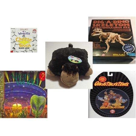 Children's Gift Bundle [5 Piece] -  Diary of a Wimpy Kid  - T-Rex Dinosaur Excavation Kit  - Pillow Pet Pee Wee Monkey 11