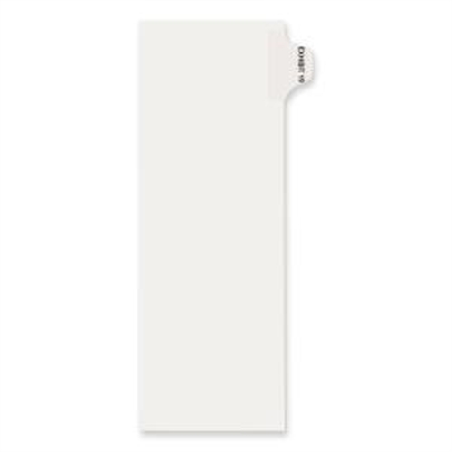 """Dividers, """"Exhibit 19"""", Side Tab, 8-1/2""""x11"""", 25/PK, White AVE82339"""