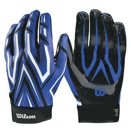 Wilson Royal Adult MVP Clutch Skill Football Running Back Receiver Gloves Medium