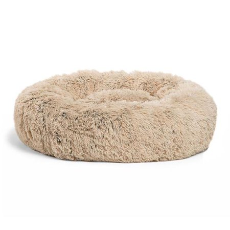 Best Friends by Sheri Luxury 23 Inch Shag Faux Fur Donut Dog Cat Pet Bed,