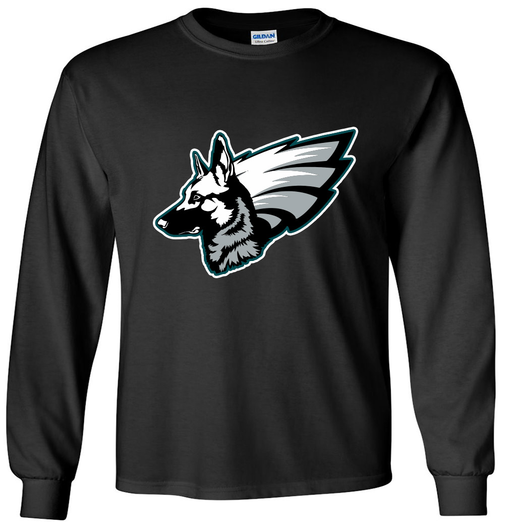 "LONG SLEEVE Shedd Shirts BLACK Nick Foles Philadelphia Eagles ""UNDERDOGS"" T-Shirt by"