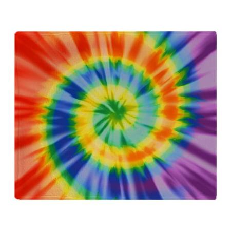 Tie Blanket Kits (CafePress - Printed Tie Dye Pattern - Soft Fleece Throw Blanket, 50