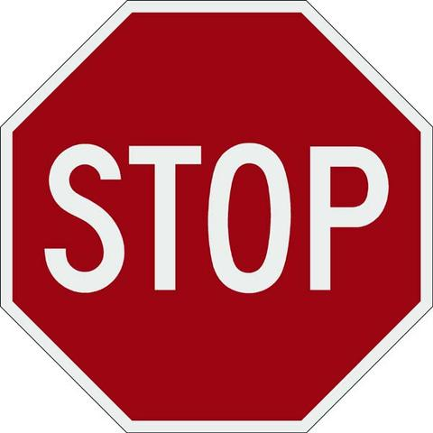 STOP Signs - 24x24 - 3M Engineer Grade Prismatic Reflective Street Legal STOP Signs Highway Street Sign