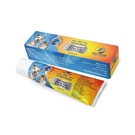 Andy Anand Organic Enzymatic Toothpaste Pets Fights Bad Breath Guarantee no Upset Stomach Coconut Oil, Neem, Clove, Fennel Other (Fennec Fox As A Pet In The Us)