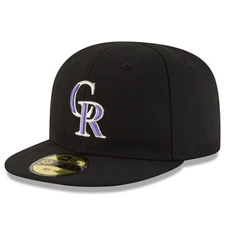 Colorado Rockies New Era Infant Authentic Collection On-Field My First 59FIFTY Fitted Hat - Black - 6