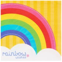 Rainbow Wishes Lunch Napkins, 40ct