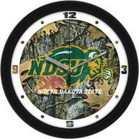 North Dakota State Camo Wall Clock