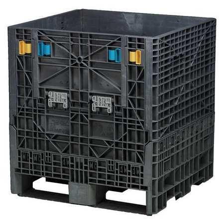 Buckhorn 1800 lb Capacity, Collapsible Bulk Container, Black BN3230342010000