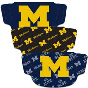 Michigan Wolverines WinCraft Adult Face Covering 3-Pack