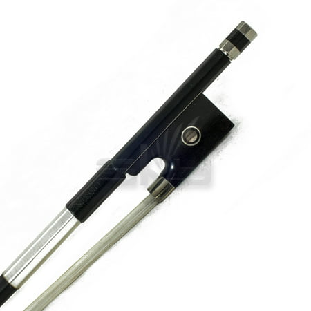 SKY 3/4 Violin Bow Satin Carbon Fiber Round Stick Mongolian Horsehair Silver (Best Sky Violin Bows)