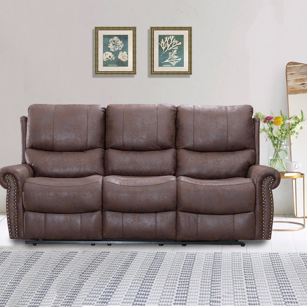 recliner sofa set reclining couch sofa leather 3 seater