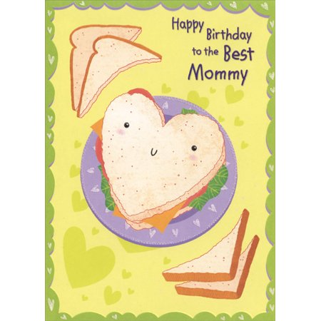 Designer Greetings Heart Shaped Sandwich: Mommy Birthday Card