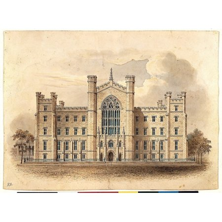 University Of The City Of New York Washington Square  Facade Of Main Building  Poster Print  18 X 24