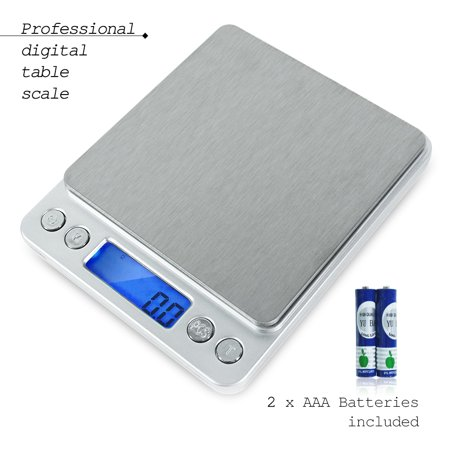 Loadstone Studio 2000g/0.1g Smart Digital Multifunction Stainless Steel Jewelry & Kitchen Food Scale, 0.001oz Resolution  , WMLS2427