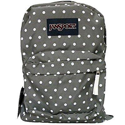 jansport classic superbreak backpack - shady grey / white dots Gray Classic Backpack