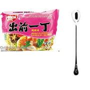 NineChef Bundle - NISSIN Demae Ramen Noodle with Soup Base (Prawn Flavor 20 Pack) + 1 NineChef ChopStick
