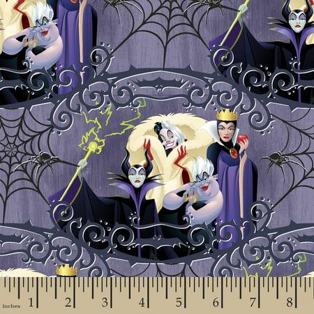 Disney Villains Friends Fabric by the Yard - Disney Female Villians