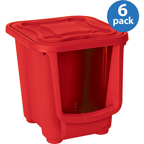 Homz Kidz Modular Storage System, Red, Set of 6