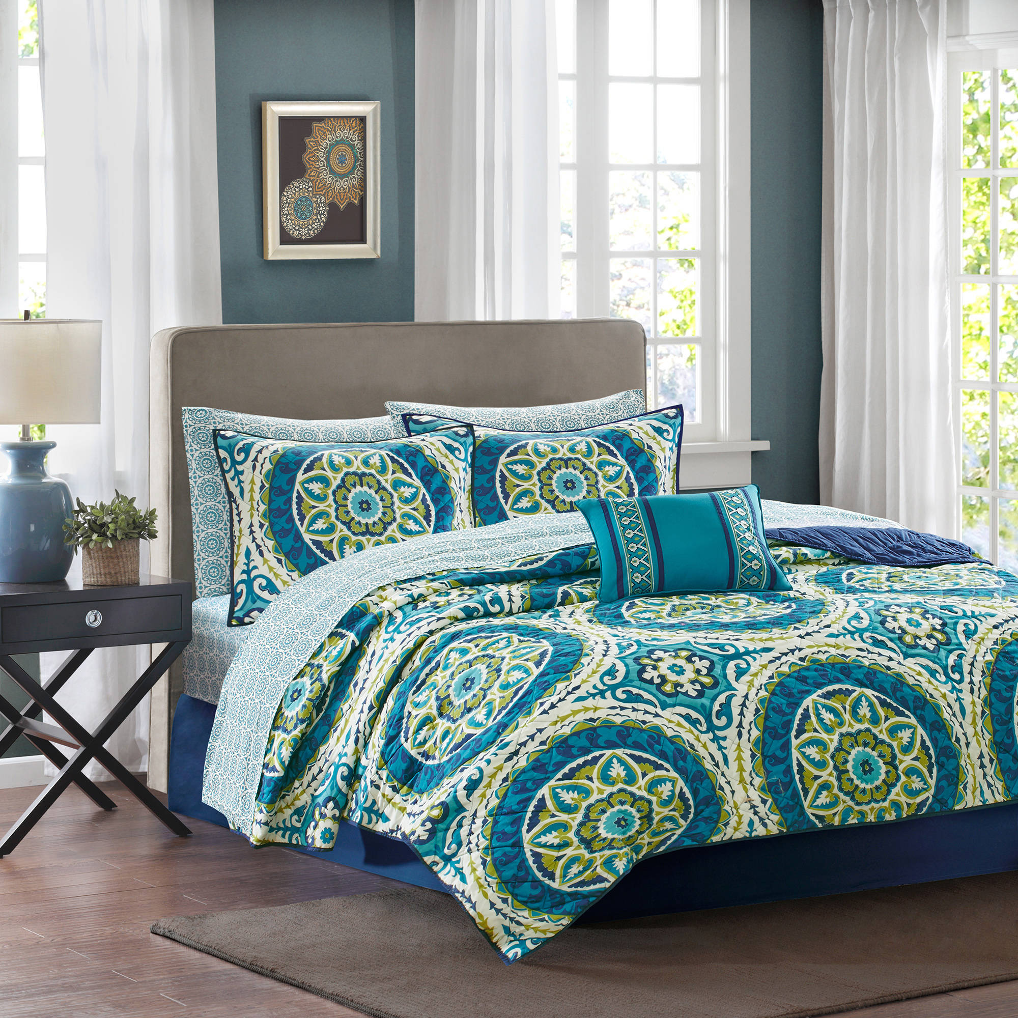 Home Essence Nepal Complete Coverlet and SHeet Set by E&E Co.