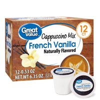 Great Value French Vanilla Cappuccino Mix Coffee Pods, 12 Count