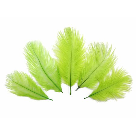 Wholesale Pack - Lime Green Ostrich Small Confetti Feathers (Bulk)
