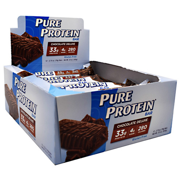 Pure Protein Bar Chocolate Deluxe 2.75 oz Bars - Pack of 12