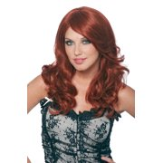Womens Wavy Red Emma Halloween Costume Accessory Wig