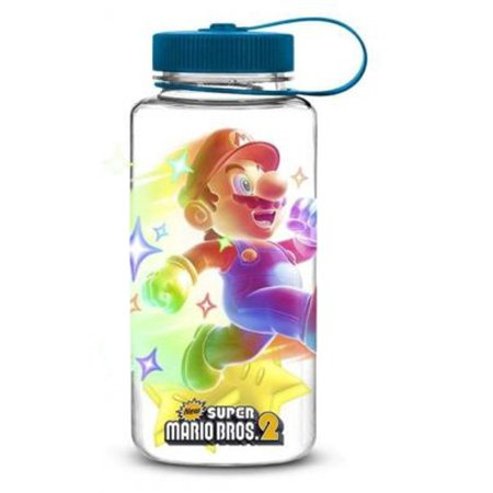 Nintendo Super Mario Bros. Water Bottle with Refreezable Star Ice Cubes