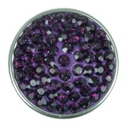NUGZ Jewelry 73812 Charm-Nugz Snap On-Plum Crystal