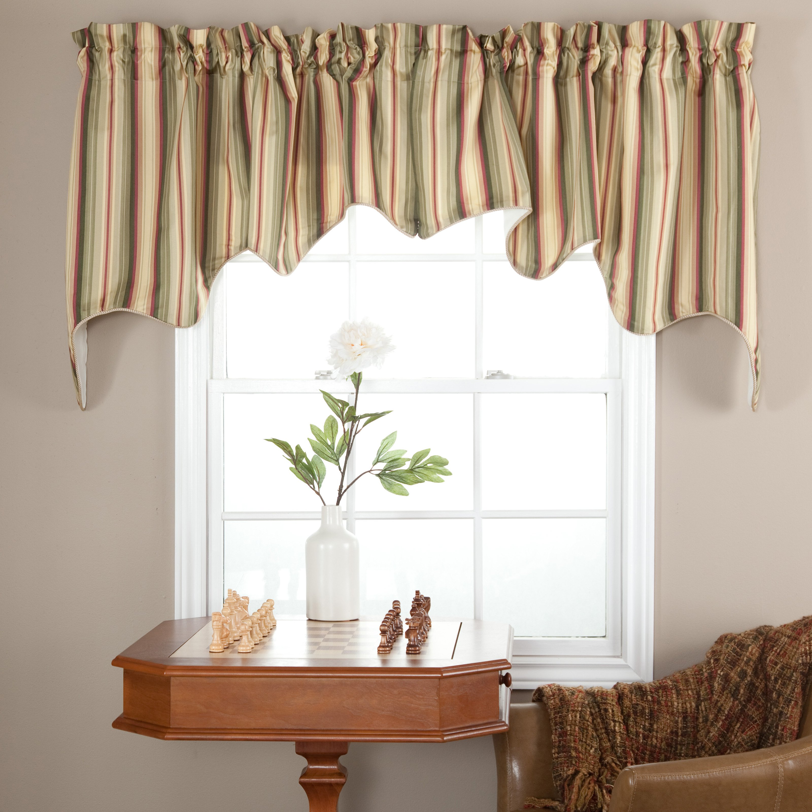 Ellis Curtain Mateo Stripe Lined Duchess Valance