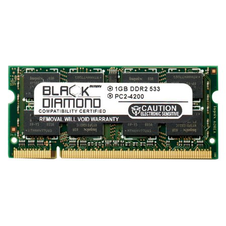 1GB Memory RAM for HP Pavilion Notebooks Dv1635LA 200pin PC2-4200 533MHz DDR2 SO-DIMM Black Diamond Memory Module Upgrade 200 Pin Sodimm Notebook Memory