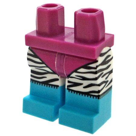 LEGO Magenta Leotard with Zebra Print Leggings Loose -