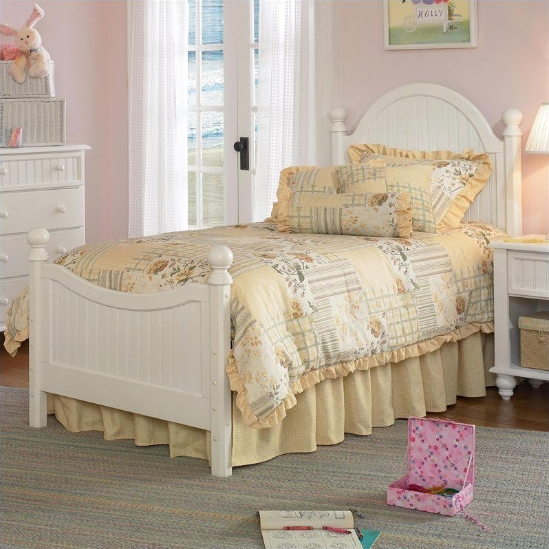 Hillsdale Westfield Poster Bed in Off-White Finish-Full by Hillsdale