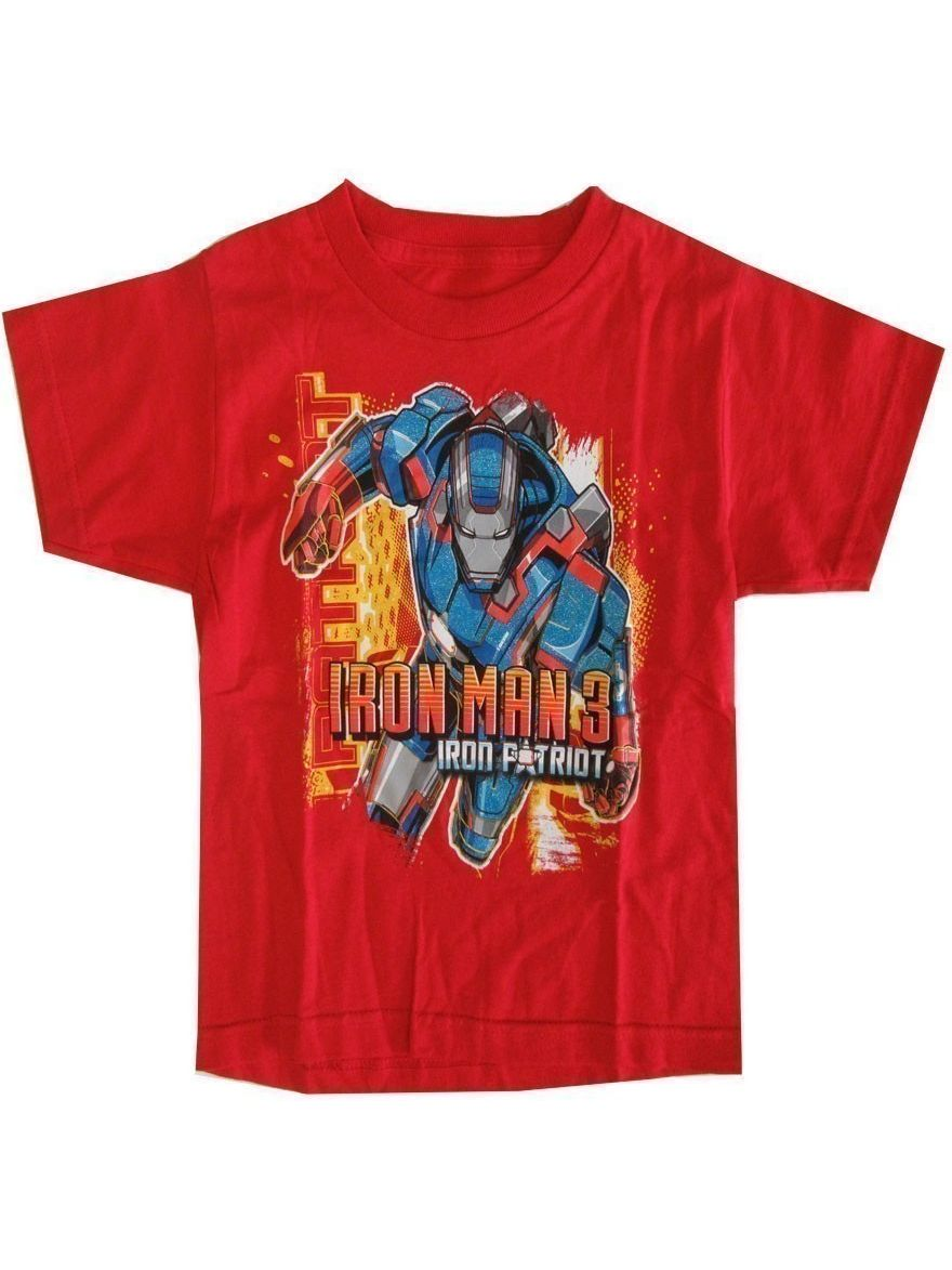 "Marvel Little Boys Red Iron Man 3 ""Iron Patriot"" Graphic Print T-Shirt"