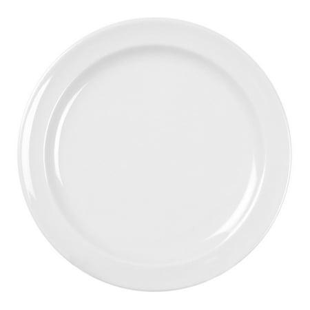 Excellante Melamine  Milan Round Plate  White  12 pk. - size - Melamine Round Plates