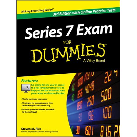 Series 7 Exam for Dummies, with Online Practice Tests - Test Dummy Costume