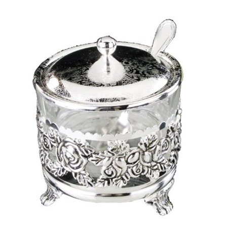 Nua Collection 59305 Silver Plated Charoset & Salt Water Dish  4 in.