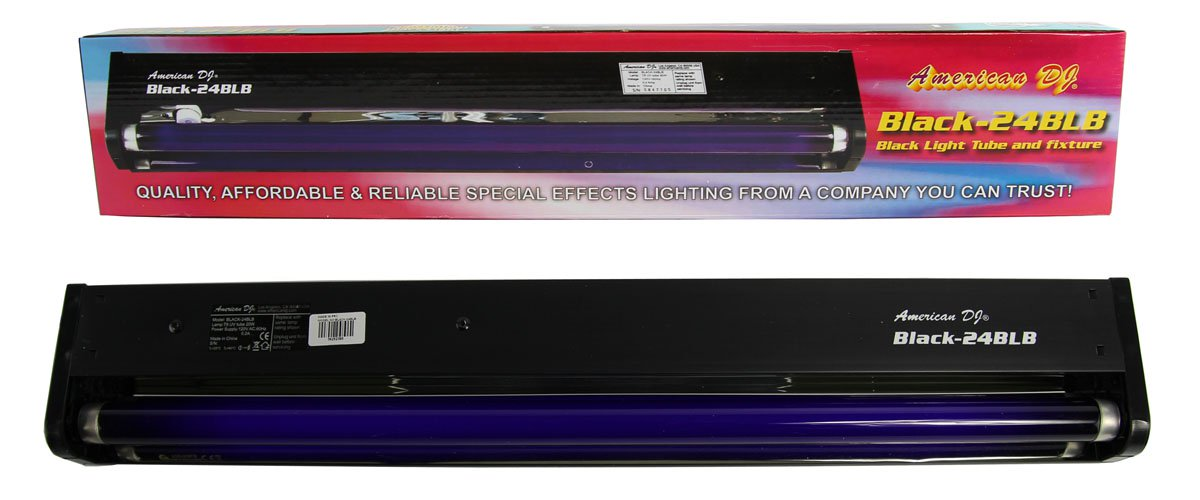 "American DJ 24"" 20W Black Light Tube And Fixture For DJ Set/Party 