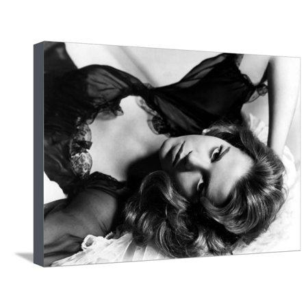 La Tete a l'envers TALL STORY by JoshuaLogan with Jane Fonda, 1960 (b/w photo) Stretched Canvas Print Wall Art ()