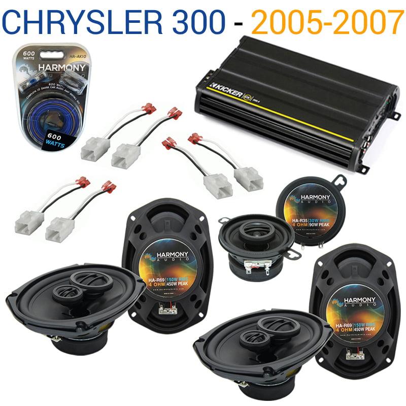 Chrysler 300 2005-2007 OEM Speaker Upgrade Harmony (2) R69 R35 & CX300.4 Amp - Factory Certified Refurbished