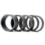 Cusimax 5pcs/set 28.6mm Carbon Fibre Bike Fork Headset Spacer Road Cycling Mountain Bicycle MTB Front Fork Gasket Black