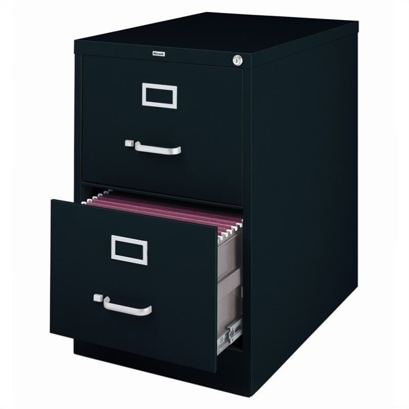 2500 Series 25-inch Deep 2-Drawer, Legal-Size Vertical File Cabinet, Black