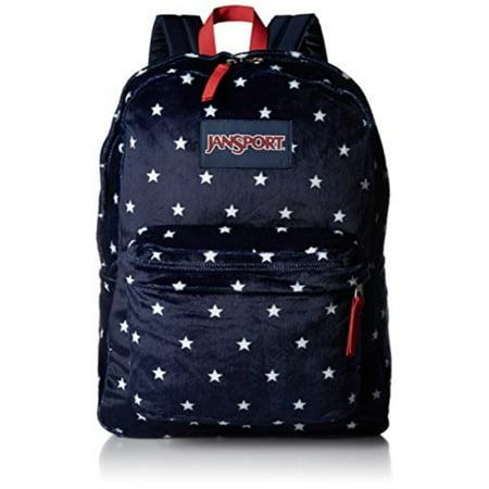 jansport unisex high stakes navy moonshine star spangled plush backpack