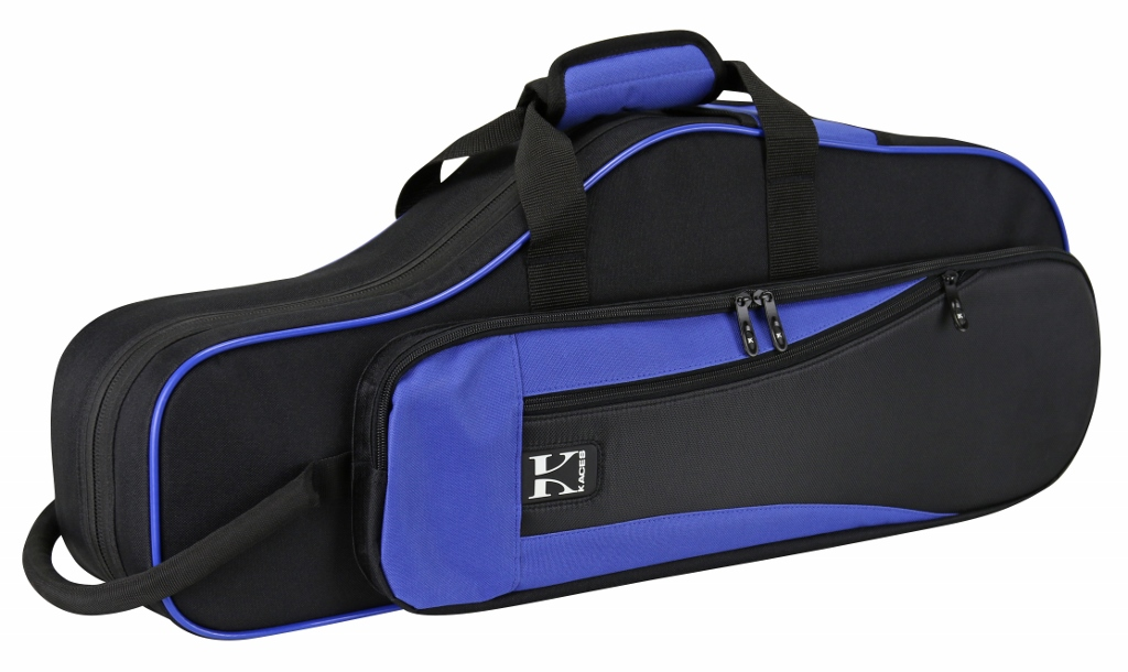 Kaces KBO-ASBL Lightweight Hardshell Alto Sax Case, Blue by Kaces