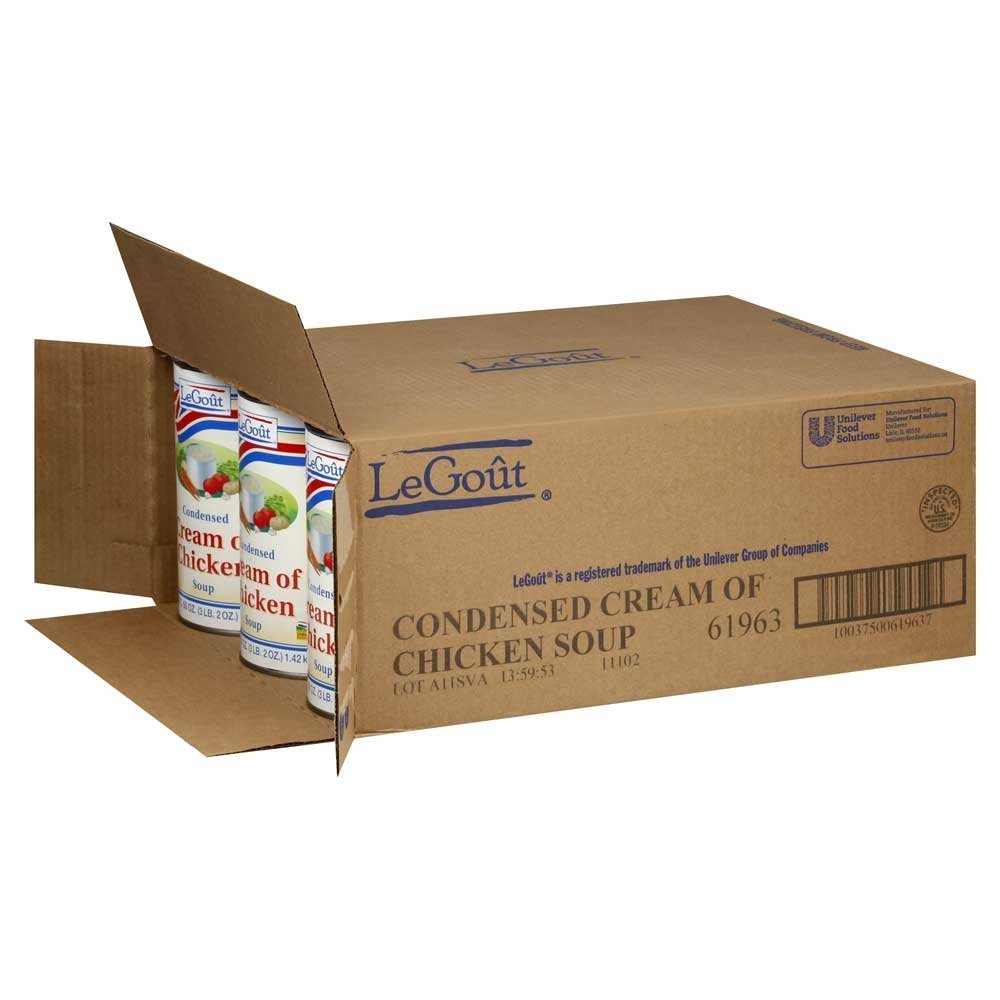 12 pack: LeGout Cream of Chicken Condensed Soup 50 oz