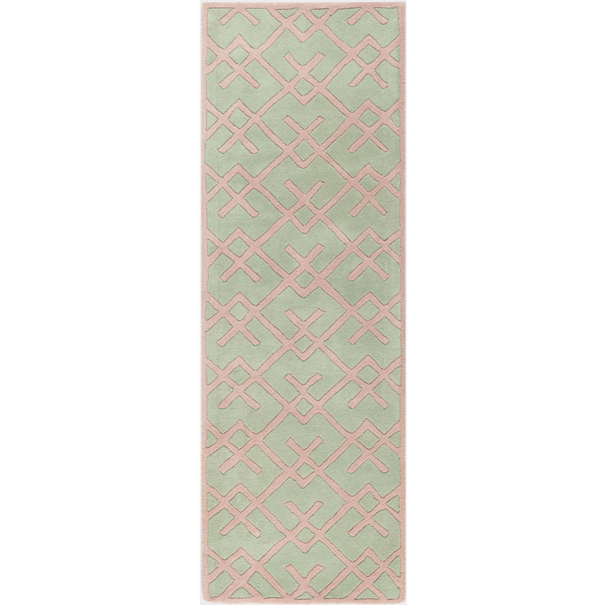 "Safavieh Chatham Ian Hand-Tufted Wool 2'3"" X 7' Runner Rug, Green"