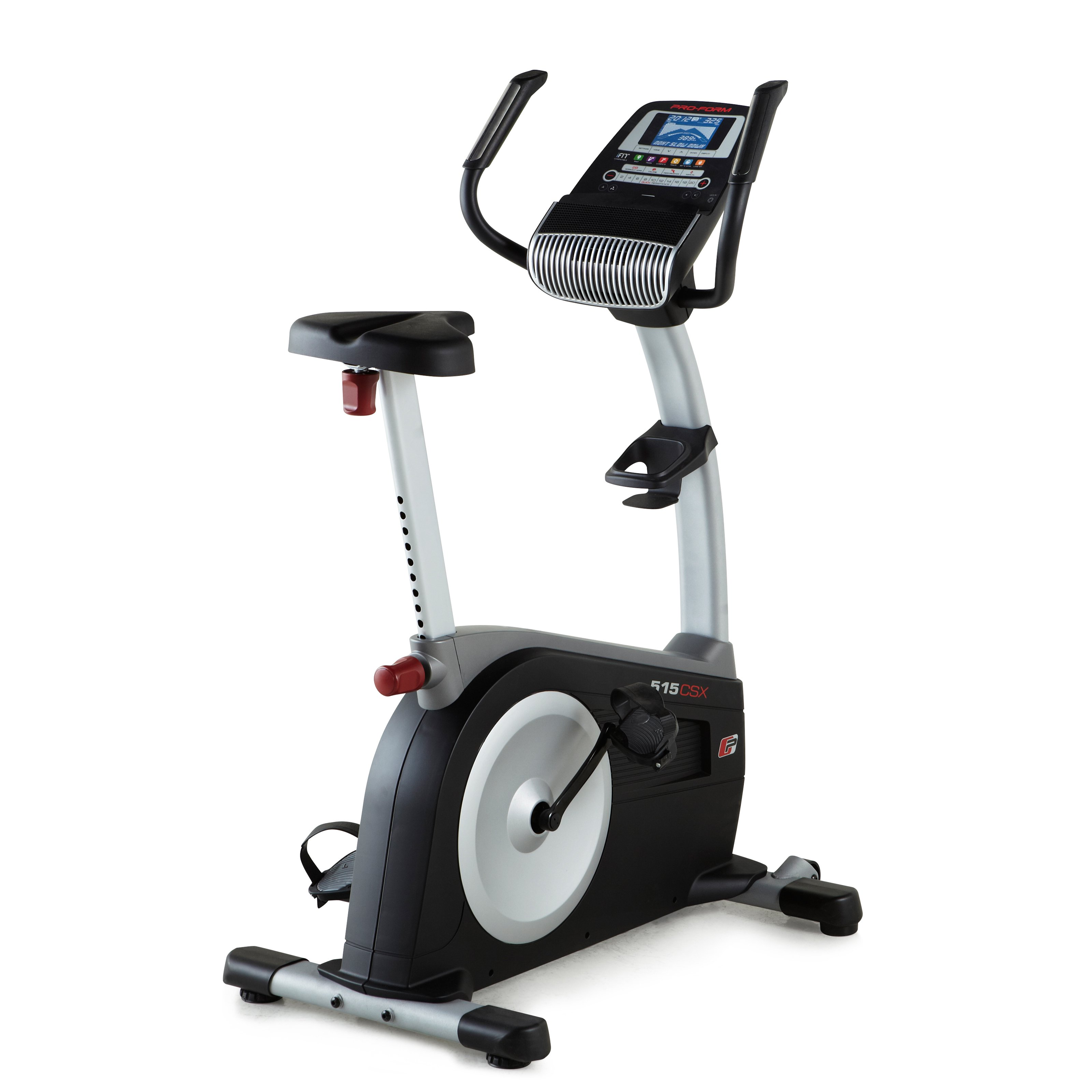 PFEX83814 515 CSX iFit Compatible Upright Bike with 20 Digital Resistance Levels  CoolAire Workout Fan  Google Maps Routes  and Certified Personal Trainer Workout Programs